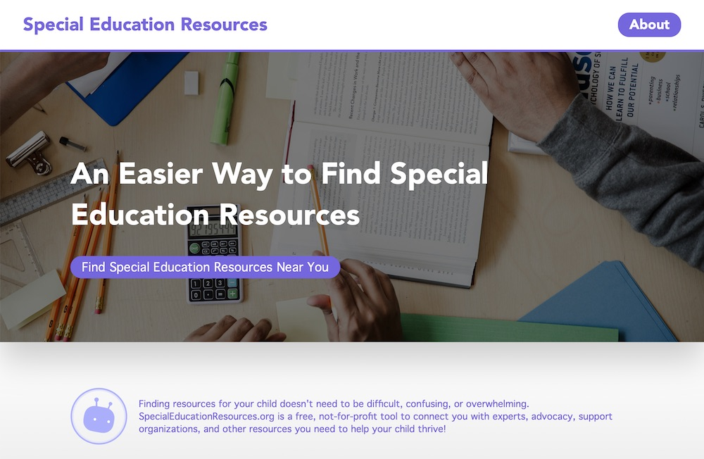 Screenshot of www.specialeducationresources.org